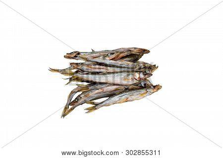 Beauty Ryapushka Whitefish  Cold Smoked. Isolate. Top View