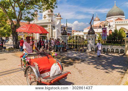 George Town Penang Malaysia. March 2019. The Kapitan Keling Mosque In George Town Malaysia
