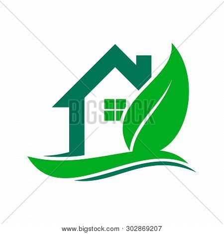 Green House Logo, House Logo, Green House Icon, Green House Icon Vector Isolated On White Background
