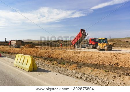 Dumping Of Soil In The Construction Of The Highway Tavrida