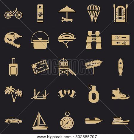 Holiday Abroad Icons Set. Simple Set Of 25 Holiday Abroad Vector Icons For Web For Any Design
