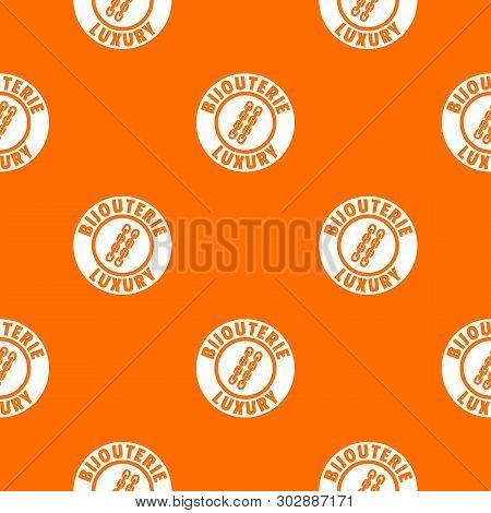 Bijouterie Luxury Pattern Vector Orange For Any Web Design Best