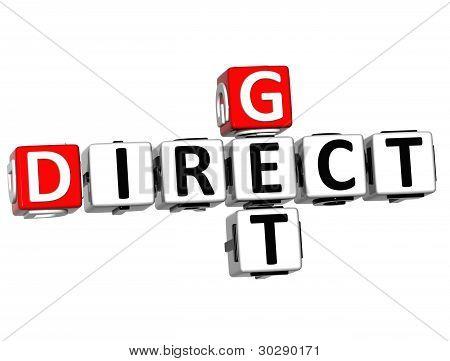 3D Get Direct Mail Crossword