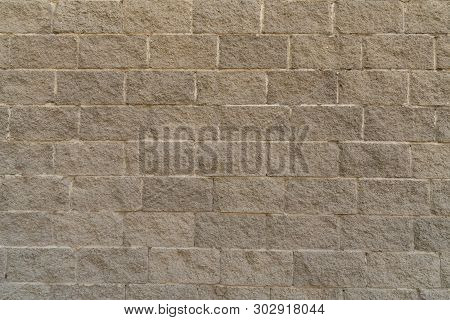 Background Texture Of Lightweight Concrete Block, Raw Material For Industrial Wall