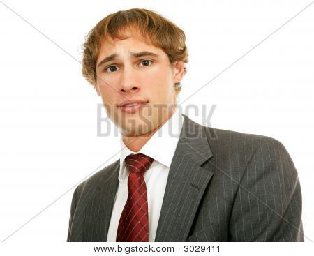 Young Businessman - Worried