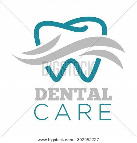 Dental Care Dentist Service Isolated Icon Tooth