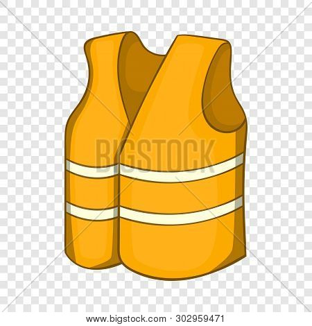 Reflective Vest Icon. Cartoon Illustration Of Reflective Vest Vector Icon For Web Design