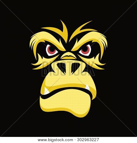 Gorilla,monkey,vector, Illustration, Wild, Mascot, Animal, Symbol, Ape, Primate