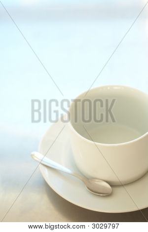 Empty White Coffee Cup