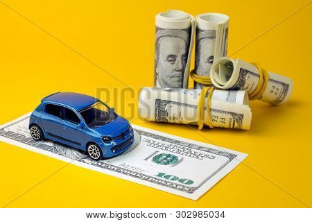 Concept Of Insurance, Credit And Car Purchases, Leasing, Car Loan,  Auto Dealership And Rental, New