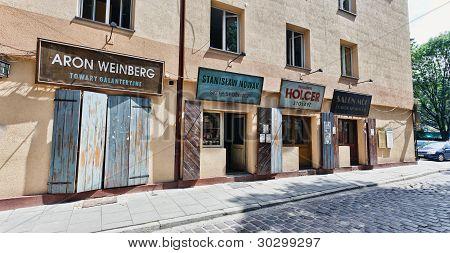 Szeroka Street Pre-war Street Museum On Kazimierz, The Old Jewish Quarter Of Krakow (poland)