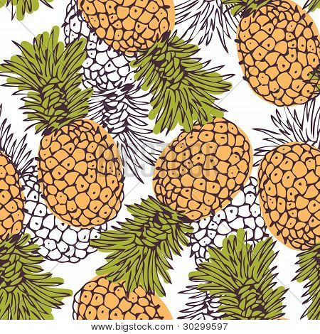 Pineapple background