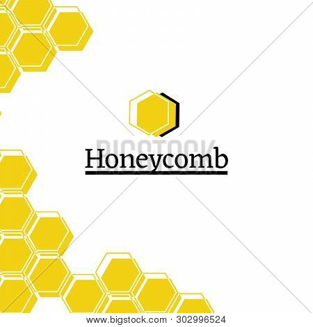 Honey Shop Flat Vector Logo Illustration. Eco Products Store. Geometric Honeycomb Drawing. Pollinati