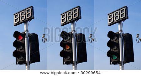 3 Step of Traffic Light