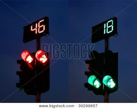 Traffic Light and Countdown Sign