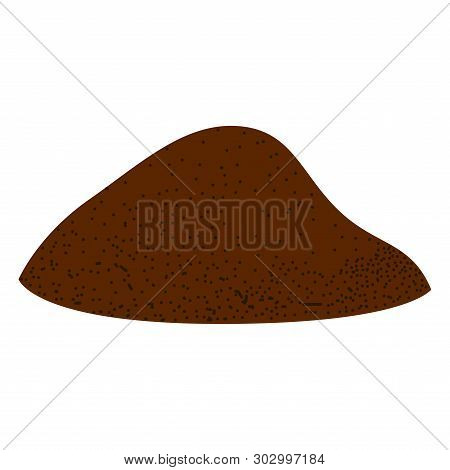 Isolated Pile Of Ground Coffee Image - Vector