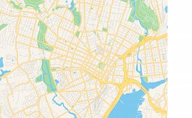 Empty Vector Map Of New Haven, Connecticut, Usa, Printable Road Map Created In Classic Web Colors Fo