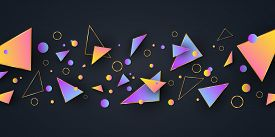 Abstract Geometric Shapes. Background For Your Design. Low Poly Style. Random Forms. Abstract Multic