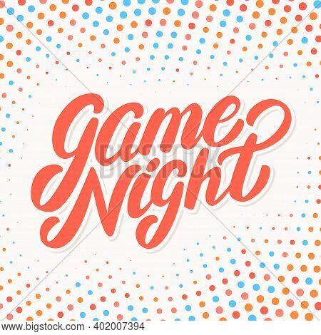 Game Night Banner. Vector Hand Drawn Illustration.