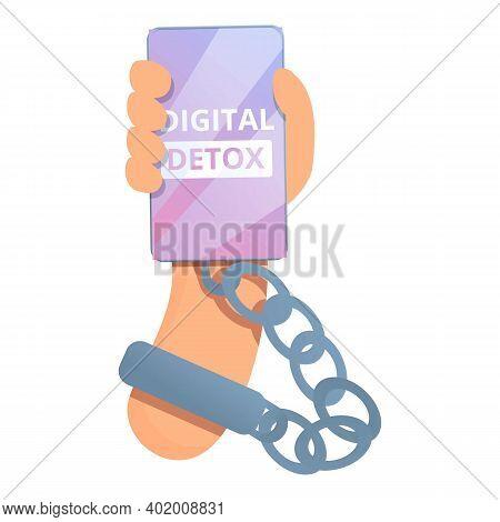 Digital Detoxing Smartphone Icon. Cartoon Of Digital Detoxing Smartphone Vector Icon For Web Design