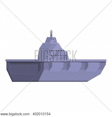 Aircraft Carrier Attack Icon. Cartoon Of Aircraft Carrier Attack Vector Icon For Web Design Isolated