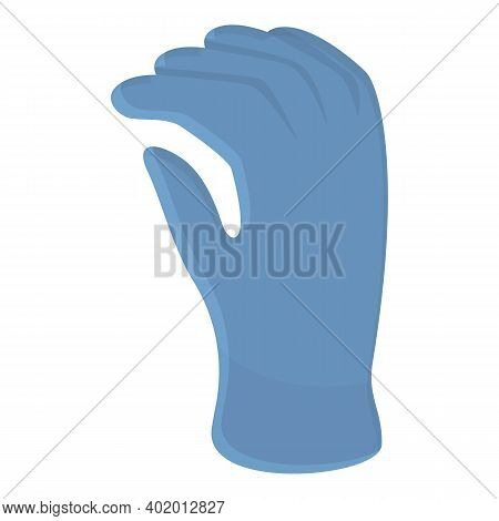Dentist Medical Gloves Icon. Cartoon Of Dentist Medical Gloves Vector Icon For Web Design Isolated O