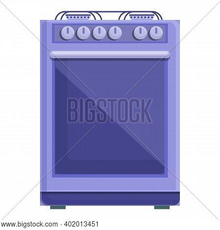 Kitchen Burning Gas Stove Icon. Cartoon Of Kitchen Burning Gas Stove Vector Icon For Web Design Isol