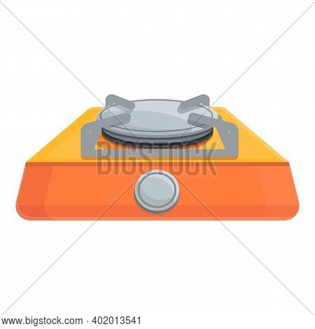 Compact Gas Stove Icon. Cartoon Of Compact Gas Stove Vector Icon For Web Design Isolated On White Ba