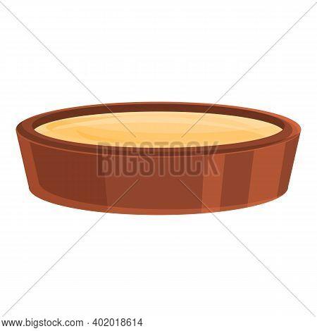 Dough Pot Icon. Cartoon Of Dough Pot Vector Icon For Web Design Isolated On White Background