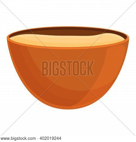 Dough Bowl Icon. Cartoon Of Dough Bowl Vector Icon For Web Design Isolated On White Background