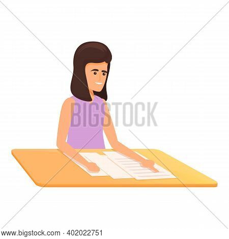 School Test Junior Icon. Cartoon Of School Test Junior Vector Icon For Web Design Isolated On White