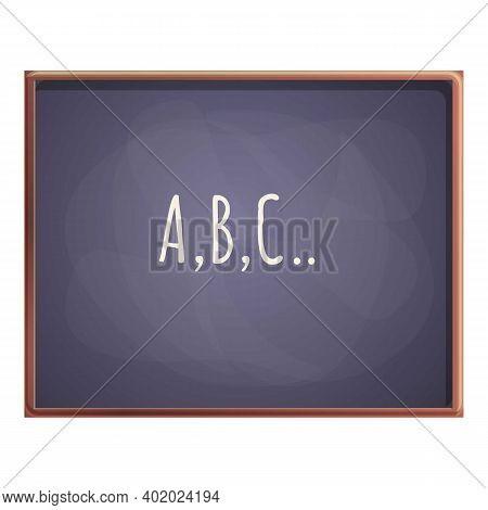 Abc Chalkboard Icon. Cartoon Of Abc Chalkboard Vector Icon For Web Design Isolated On White Backgrou