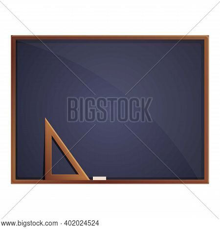 Education Chalkboard Icon. Cartoon Of Education Chalkboard Vector Icon For Web Design Isolated On Wh