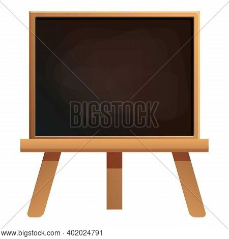 Classroom Chalkboard Icon. Cartoon Of Classroom Chalkboard Vector Icon For Web Design Isolated On Wh