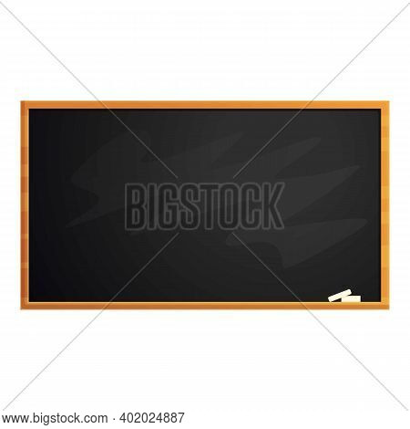 Empty Chalkboard Icon. Cartoon Of Empty Chalkboard Vector Icon For Web Design Isolated On White Back