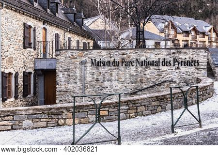 Architectural Detail Of The House Of The Parc National Des Pyrenees In Saint Lary Soulan
