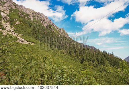 View Of The Mountain Landscape, Tatra National Park, Poland. High Tatras, .