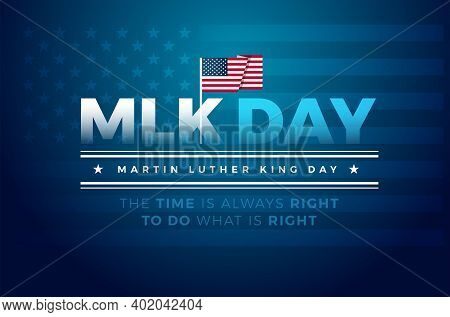 Martin Luther King Jr. Day Typography Greeting Card Design. Mlk Day Lettering Inspirational Quote, U