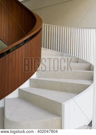 Steps With Spiral Staircase Background, Stock Photo