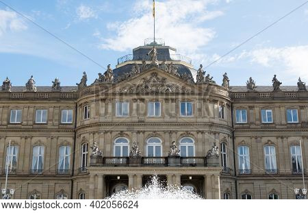 The New Palace ( Neues Schloss ) Which Stands On Schlossplatz, In Stuttgart - Germany