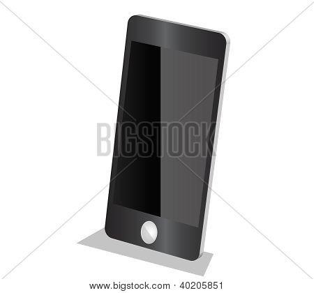Beautiful Black smartphone in graphic vector 3D