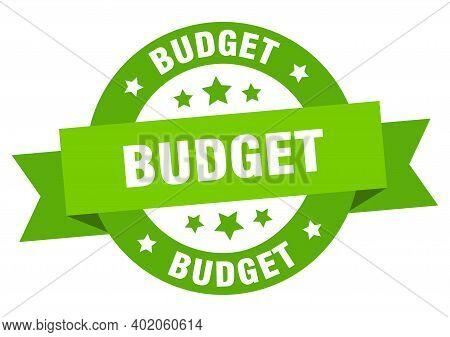 Budget Ribbon. Budget Round Green Sign. Budget