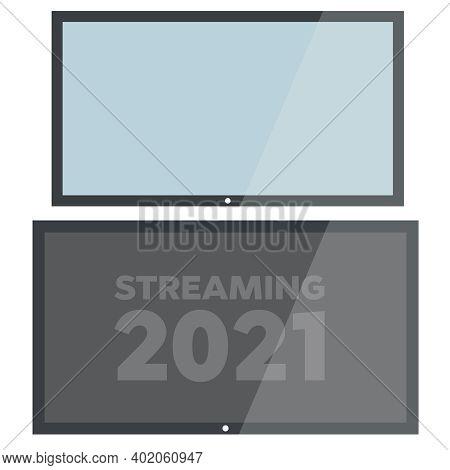 Realistic Tv Screen. Lcd Tv Display Screen