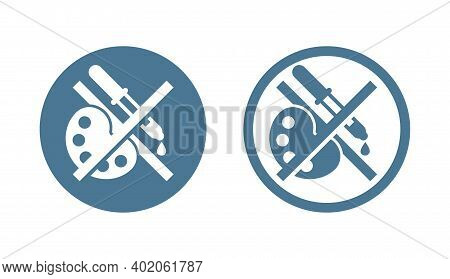 No Preservatives, Additives Or Dye Free Green Pictogram - Organic Food Sticker With Crossed Painting