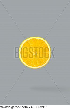 Creative Idea Layout With Fresh Fruits On Trendy Colour Background