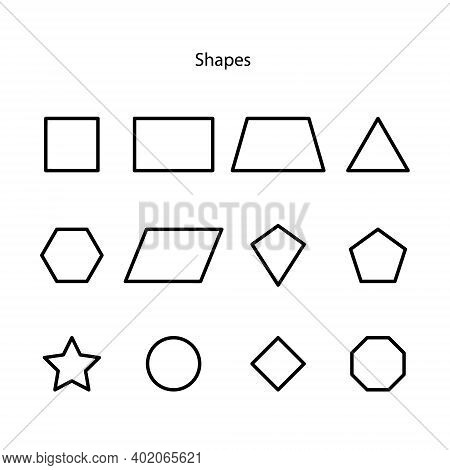 Geometry Icon Set Isolated On White Background From Science Collection. Geometry Icon Trendy And Mod