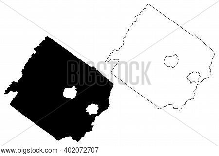 Augusta County, Commonwealth Of Virginia (u.s. County, United States Of America, Usa, U.s., Us) Map