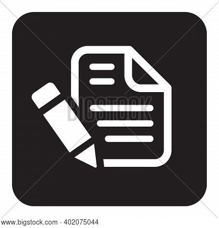 Notepad Icon Isolated On White Background From Office Collection. Notepad Icon Trendy And Modern Not