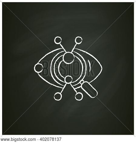 Creative Research Chalk Icon. Artistic Vision And Technical Solution Approach Concept. Eye With Magn