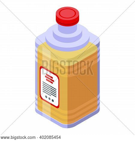 Canola Oil Plastic Bottle Icon. Isometric Of Canola Oil Plastic Bottle Vector Icon For Web Design Is